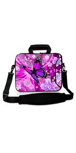 Purple Butterfly Laptop Sleeve Bag