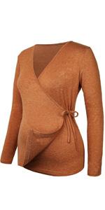 Nursing Tops Long Sleeve Breastfeeding Top