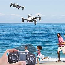 Flashandfocus.com 804c9c60-ea08-4b29-8900-7dac7bbfe64a.__CR0,0,300,300_PT0_SX220_V1___ SIMREX X300C Mini Drone RC Quadcopter Foldable Altitude Hold Headless RTF 360 Degree FPV Video WiFi 720P HD Camera 6…
