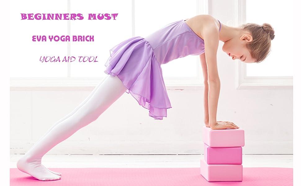 Yoga Block EVA Non-Slip High Density Foam Yoga Brick Exercise Fitness Block to Support Stability and Balance for Yoga Pilates
