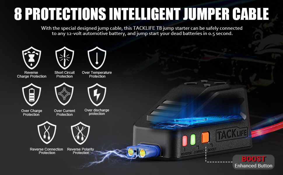 tacklife t8 car jump starter