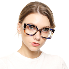 SOOLALA women square anti blue light reading glasses