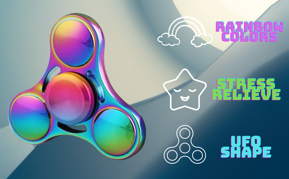 rainbow Colors fidget spinner stress relieve fidgeting toy