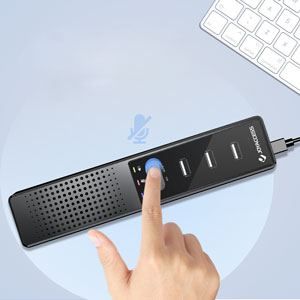 usb laptop speakers with microphone