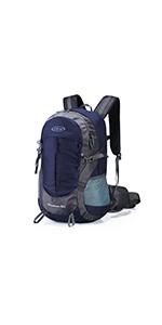 登山リュック・ザック 35L 防水ハイキングバックパック アウトドアリュックサック 旅行 登山 キャンプ レインカバー付き