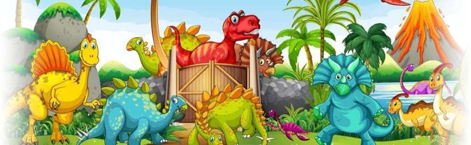 Cartoon Cute Jurassic Dinosaur