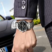 men watch Stainless steel band mechanical automatic watch
