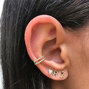 women initial earring