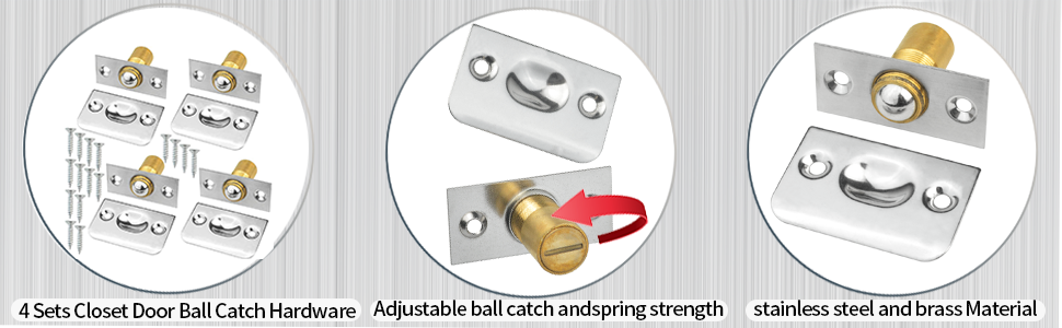 Stainless Steel and Brass Matrial, Adjustable Ball Catch and Spring Strength, Fully Equipped