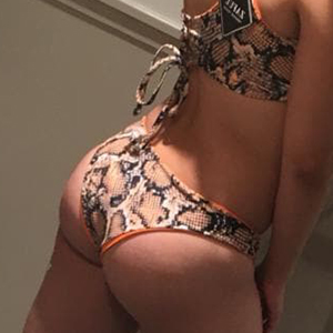 snakeskin bikini one shoulder