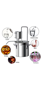 alcohol distiller 3gal moonshine still spirits kit water distiller home brewing kit
