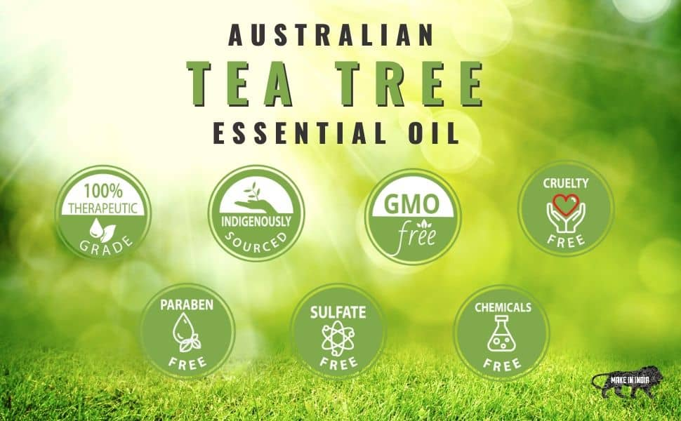 tea tree oil, tea tree essential oil for acne, pure essential oils