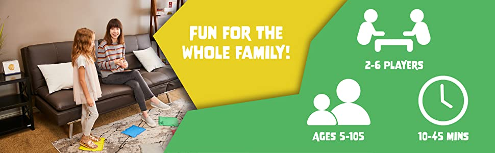 Fun for the Whole Family! 2-6 Players, Ages 5-105, 10-45 Minutes