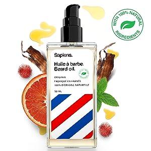 Kit barba hombre DELUXE - Sapiens - Aceite para barba fabricado en ...