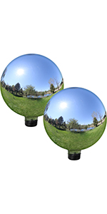 mirror glass gazing globe, set of 2