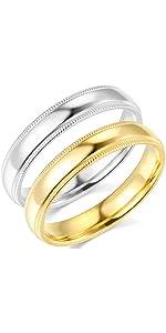 4mm Milgrain Comfort Fit Wedding Bands