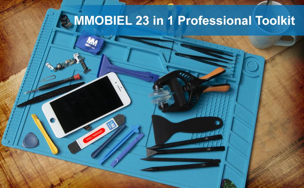 MMOBIEL Kit de apertura y reparación 24 en 1 con pinzas ...