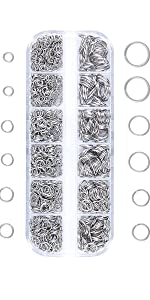 open jump rings silver plated for jewelry making