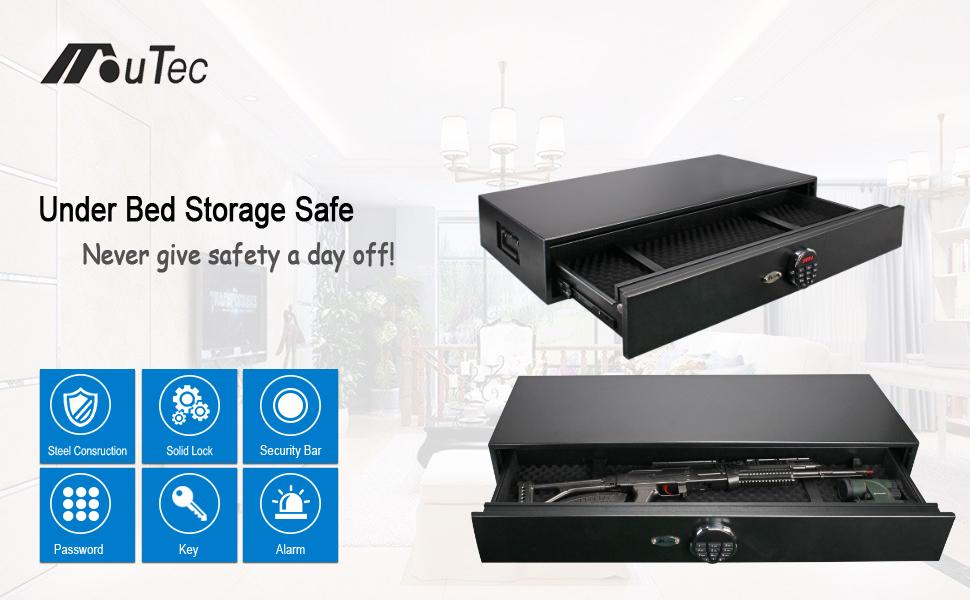 under bed safe gun safe