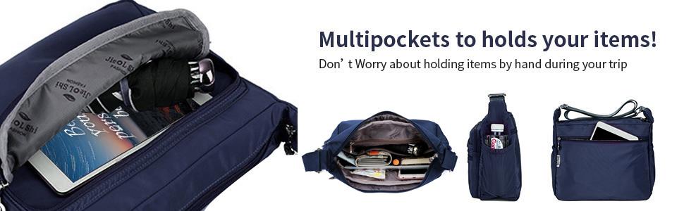 Multipockets Crossbody Purses