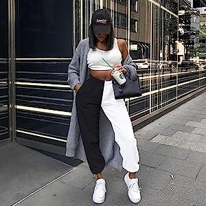 Color blokc sweatpants