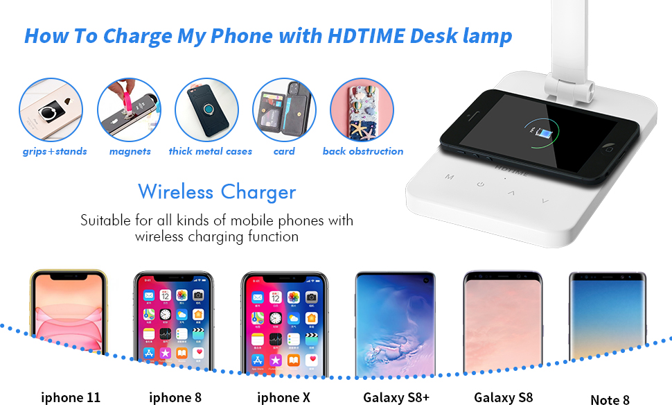 WIRELESS CHARGE DESK LAMP