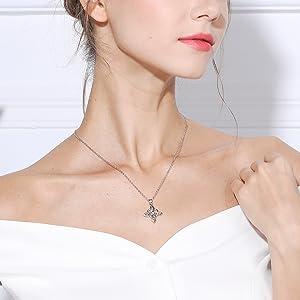 infinity love cross neckalce