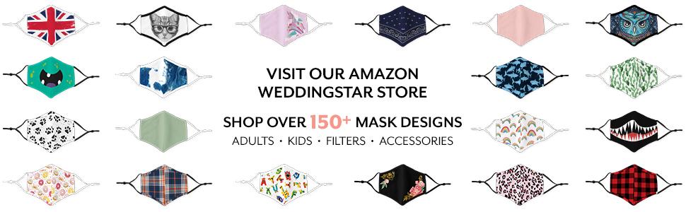 weddingstar washable cloth face mask adjustable reusable cotton
