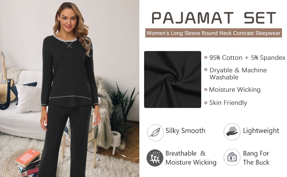 baikea women pajamas