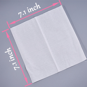 Face tissue size