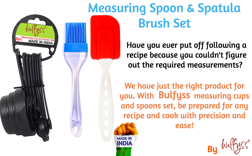 Measurement Spoons and Spatula Brush Combo