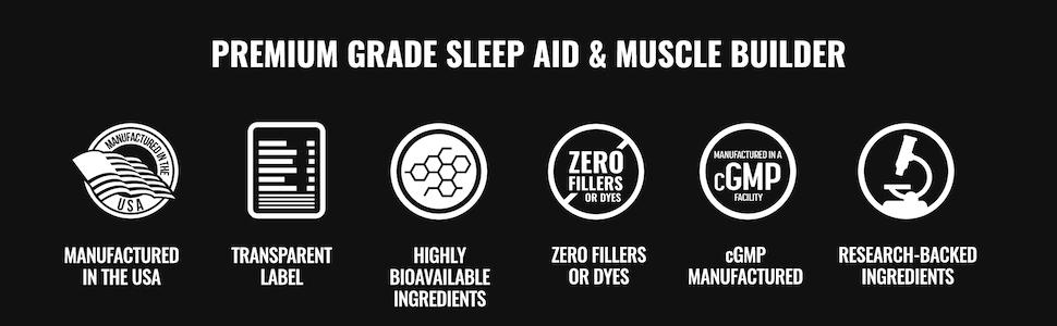 Premium Grade Sleep Aid & Muscle Builder