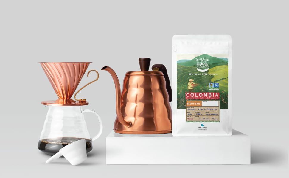 32 ounce Mediunm roast Colombia coffee