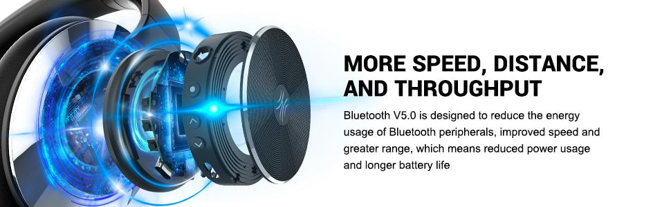 40 часа възпроизвеждане с Bluetooth.