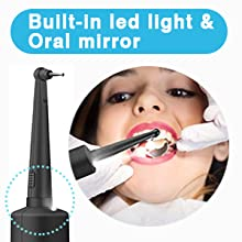 led light oral mirror