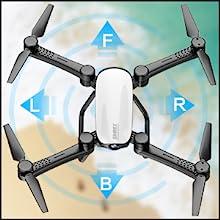 Flashandfocus.com 80afec88-2846-4d77-9995-20f0af4432c6.__CR0,0,300,300_PT0_SX220_V1___ SIMREX X900 Drone Optical Flow Positioning RC Quadcopter with 1080P HD Camera, Altitude Hold Headless Mode, Foldable FPV…