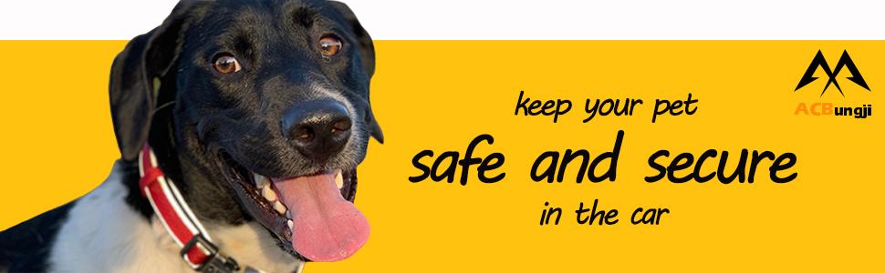 Car Pet Dog Cat Seat Safety Belt Latch Buckle No-Chew Leash Restraint