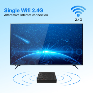 single wifi 2.4 android tv box