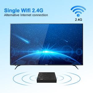 single wifi 2.4 android tv box