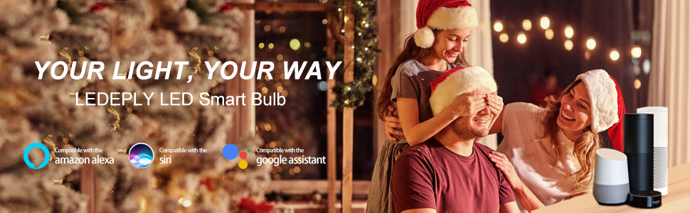 LED Candelabra Bulbs E12 Base WiFi Color Changing Smart Light Bulb Compatible with Alexa Google Home