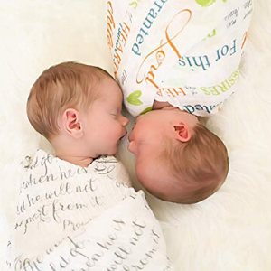 large cotton muslin swaddle blanket gift set for infants newborns toddlers birthday gift girl boy