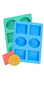 Blue Soap Molds
