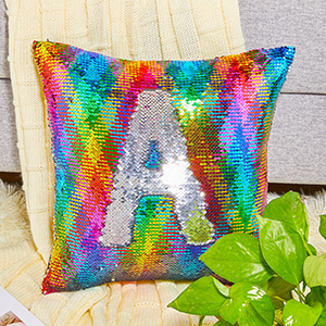home décor unicorn mermaid sequin pillow for kids DIY sequin pillow playroom sequin pillows for kids