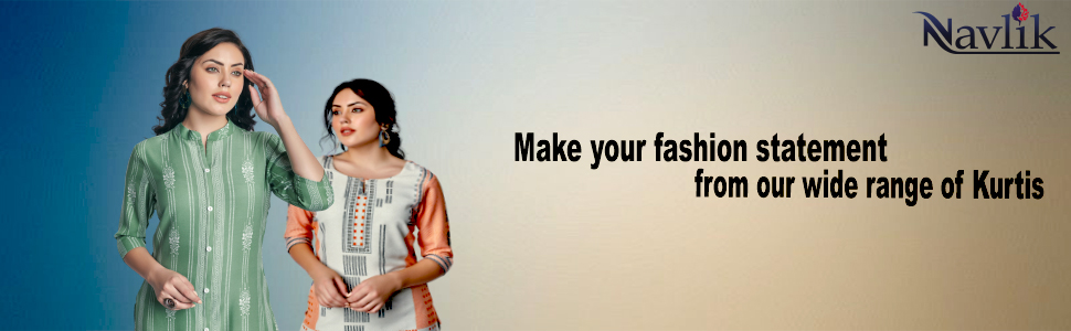 Make your fashion statement from Our wide range of kurtis by Navlik