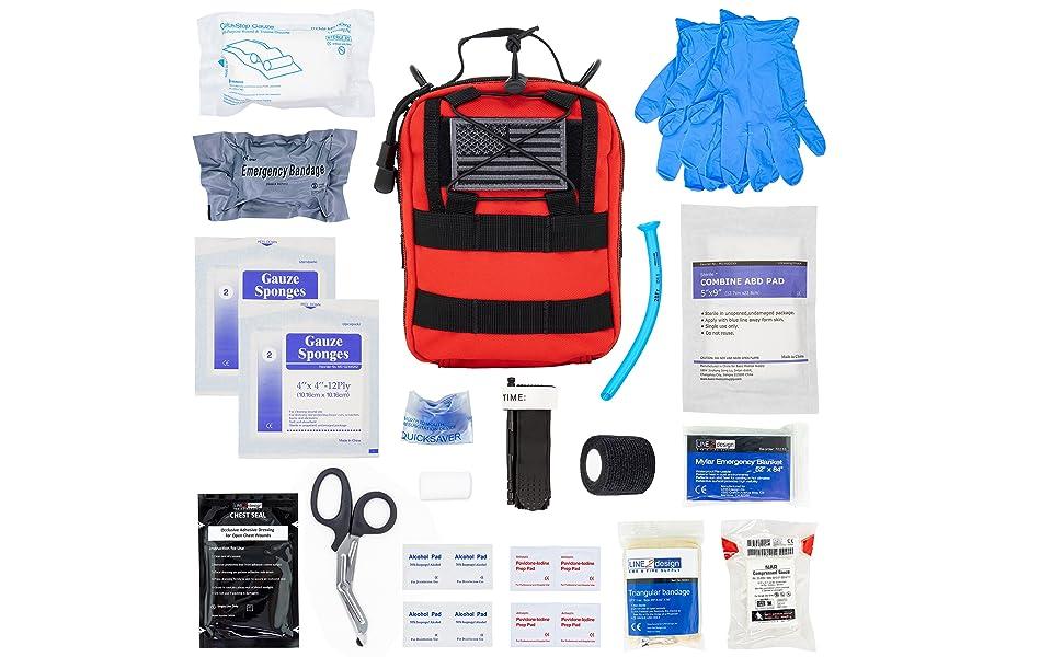 emt tactical gear gunshot utility first aid medical supply edc ifak molle pouch kit lightweight