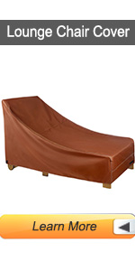 Lounge chair cover outdoor