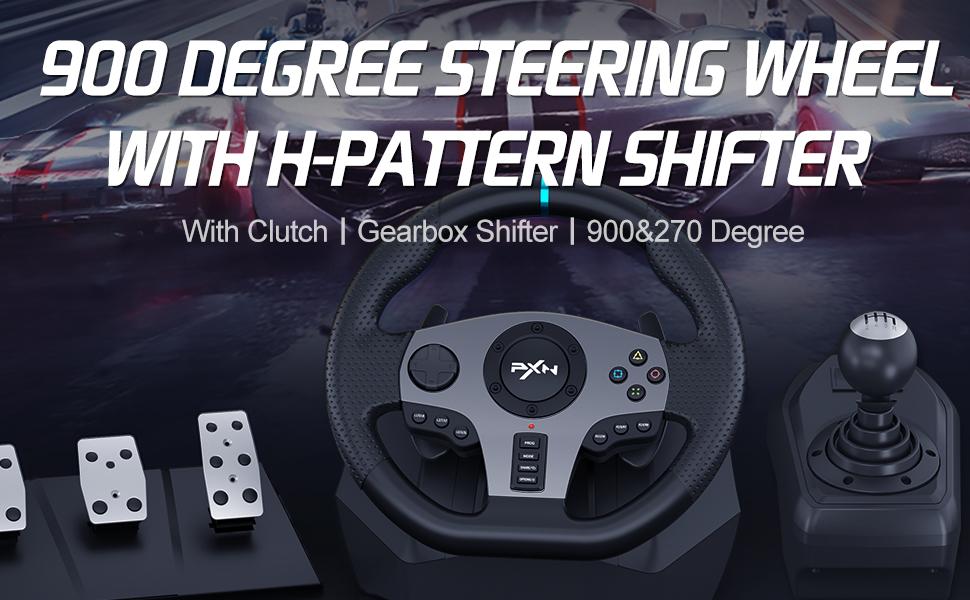 gaming steering wheel set
