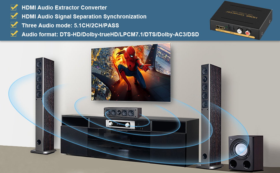4k hdmi audio splitter