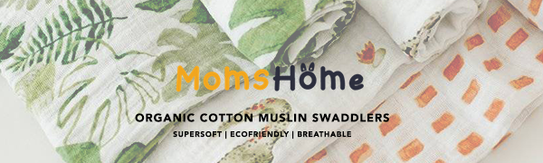 moms home muslin cotton swaddlers