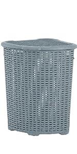 corner laundry basket wicker 50 liter